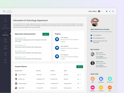 Details Page of Intranet admin panel admin dailyui photoshop web interface concept color icon minimal clean ux ui design sharepoint intranet sharepoint intranet details page department departments