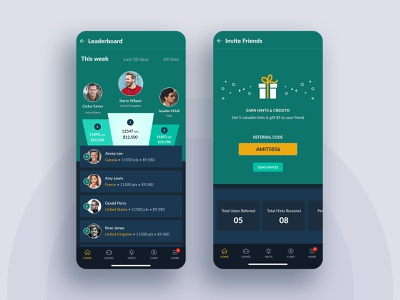 Game App Design ios dailyui mobile app design mobile app scoreboard score invite friends leaderboard game design game photoshop color minimal simple clean ux ui design mockup mobile