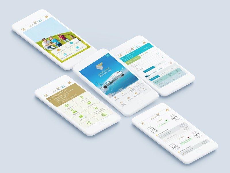 Oman Air mobile app flight ticket flight search minimal simple airline app mobile ux mobile ui ui clean ux design flight booking app flight schedule flight booking booking app airline frequent flyer