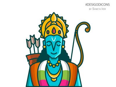 Desi God Icon - Lord Rama