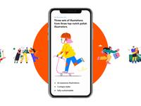 Free Illustration Set animation ios mobile colors pack download design ux freebie free elements asset application icon set ui kit ui set illustration app design app