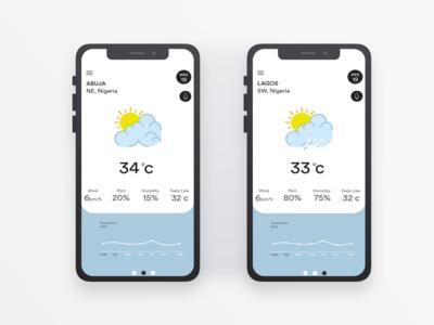 Weather App Mobile UI