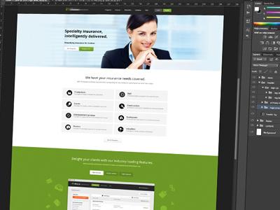WIP Insurance Home Page web design website branding flat minimal