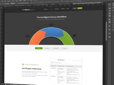 Insurance Features Page website web design branding flat minimal