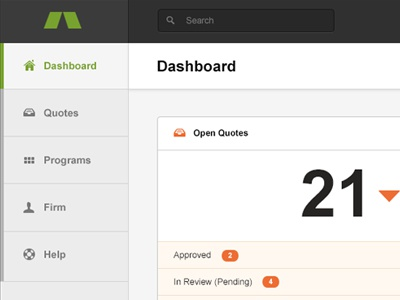 Web App Dashboard  ui user interface dashboard minimal flat layout navigation