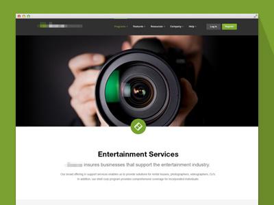 Insurance Program Page web design website branding flat minimal