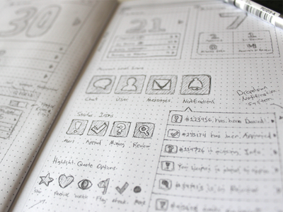 UI Wireframe Sketch