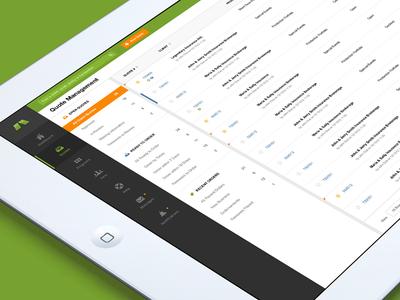 Management Web App (Update) ui user interface table navigation ipad flat minimal