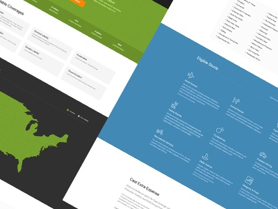 Insurance Product Page website web design branding insurance