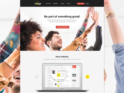 Miigle Website website branding web design flat minimal