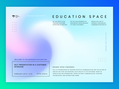Education space poster illustrator graphicdesign typogaphy poster