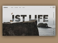 Creative modern concept of a personal blog