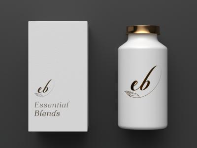 Essential Blends Logo Mockup