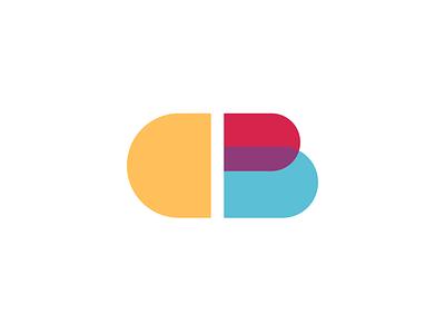 Cubert - CB Logo vector launchpad modern letter logo playful cb colorful logo vector logo