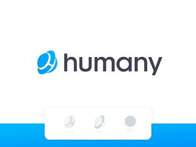 Humany - Logo Proposal launchpad modern design blockchain minimalistic young life brand vector logo social block-chain