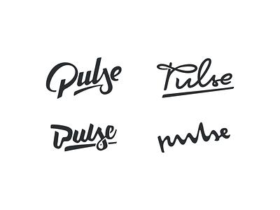 Pulse logotype youg modern design vector eco sunglasses handlettering lettering logo