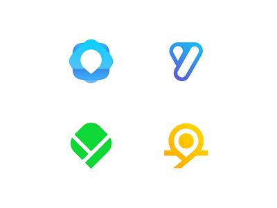 Sales Tracking salesforce location pin location cloud modern branding logo vector app tracking sales brand logo vector