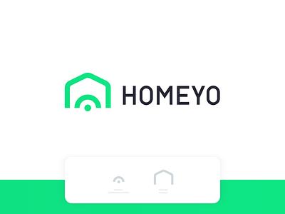 Homeyo connection home house signal network branding security app design logo vector colorful app brand vector logo modern