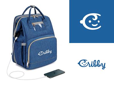 Cribby logo design design logo babyface kidface kid crib logodesign logo vector brand branding backpacking handlettering backpack baby vector modern