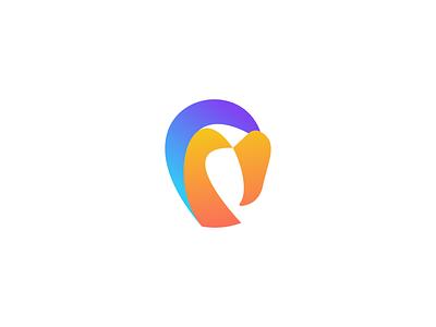 Flamingo Logo bird animal logodesign brand startup logo logo colorful flamingo