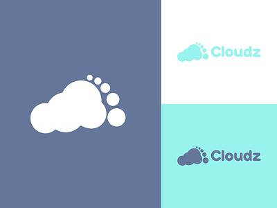 Cloudz - Logo Design footprint modern slides minimalist vector cloud logo cloud