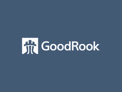 GoodRook - Logo brand stronghold powerfull strong corporate rook logo