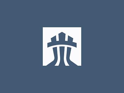 Rook minimalist modern chess vector castle logo tower rook