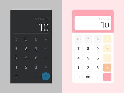 Daily UI #4 Calculator calculator dailyui adobe xd