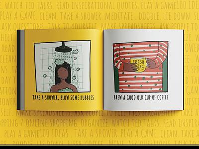 100 ways to get over a creative block design illustration