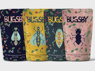 Bugsby_Packaging food nature design vector branding illustration
