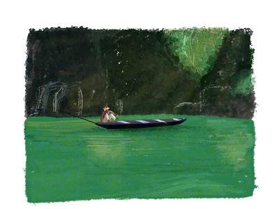Meghalaya, Dawki landscape illustration landscape illustration