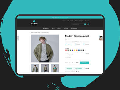 Iconic | Menswear apparel ux design uidesign website shop ecommerce menswear wear clothes product page
