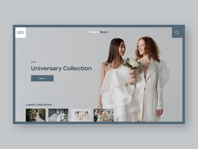 Helena Bayer | Weding Dresses web design website branding uidesign shop collection fashion dress home page product page ecommerce wedding dress