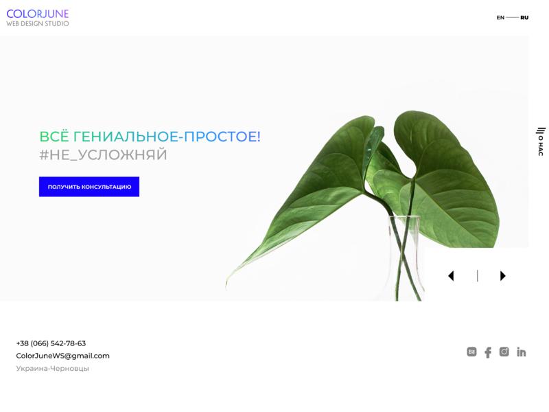 ColorJune Web Studio Redesign