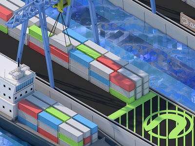 Isometric Industrial Harbor
