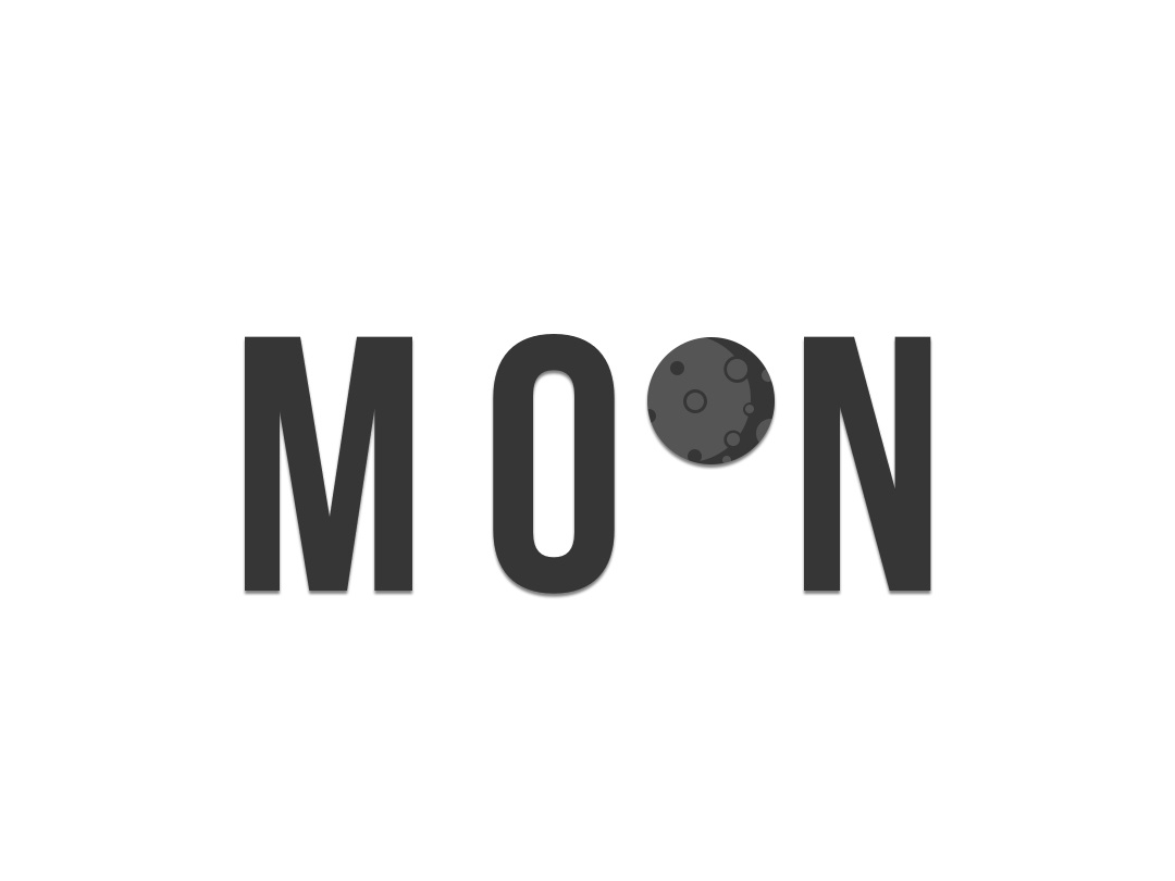 Moon typography type lettering flat word logo minimalist logo minimalist design vectober text moon logoawesome logo alphabet logo design minimalism minimallist logotype black white creative black and white logotype design logotype logo
