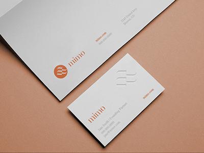 Mimo Brand Identity logo design modern logo brand identity print design business card office package typography monogram logo branding