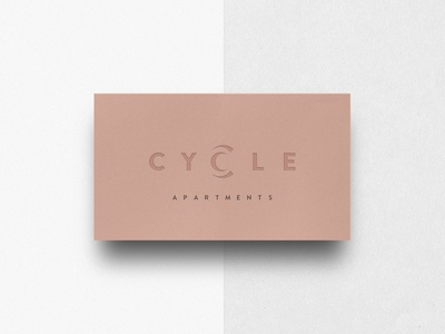 Cycle Apartments print design business card brand identity architecture typography logo design branding minimal hannah purmort logo