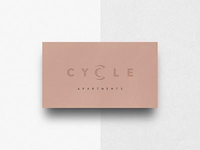 Cycle Apartments print design business card brand identity architecture typography logo design branding minimal hannah purmort logo