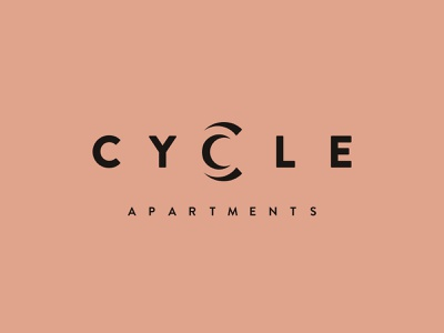Cycle Apartments design brand identity architecture modern typography logo design branding minimal hannah purmort logo