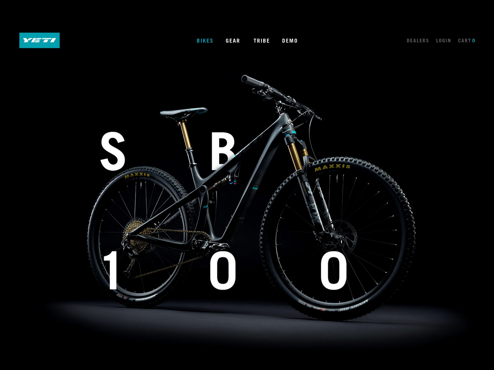 Yeti Cycles Bikes Landing Page Search By Muzli