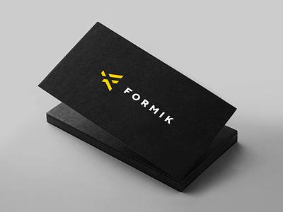 Formik minimalist design business card wordmarks print design brand identity modern typography logo design branding hannah purmort minimal logo
