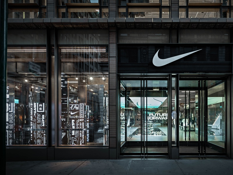 Nike Soho - Air Max 97 Retail Experience motion graphics blade runner future forward air max nyc nike retail design retail experiential design