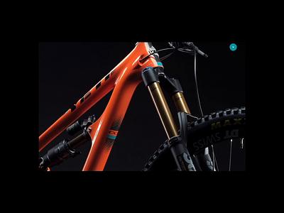 Yeti Cycles - Bikes Experience minimal home page design web design bike website bikes page mountain bike ui gif ux gif interatctions legwork studio web animation 3d product view 3d animation technology product page yeti cycles design ux ui typography