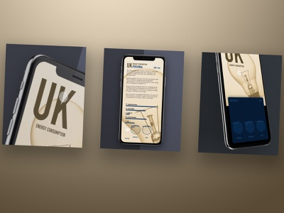 UK energy consumption invisionstudio invision illustration ux user experience ui sketch product design mobile interace design dailyui creative application app animation