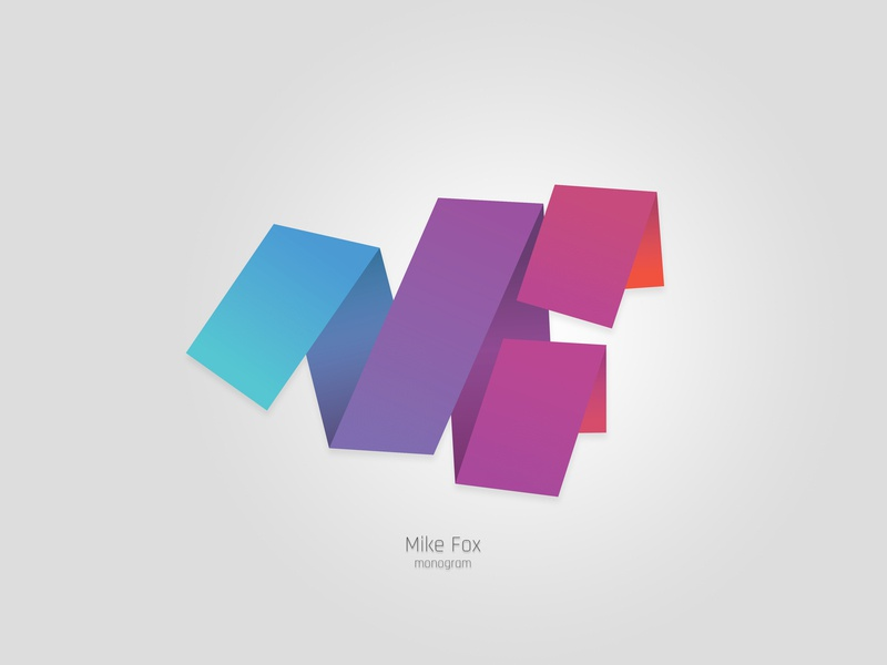 Mike Fox Monogram product design icon typography vector logo illustration branding design creative monogram