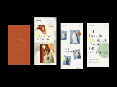Minju Kim mobile ui fashion design commerce