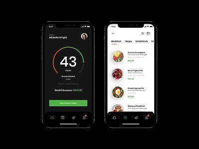 Health Food App design ui food app mobile
