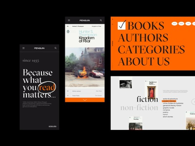 Penguin Modern Classics mobile web penguin books bookshop commerce design ui