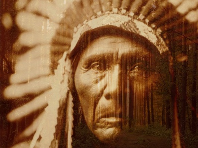 Red Indian Double Exposure